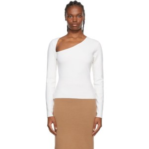 Victor Glemaud White Slash Sweater