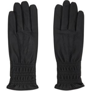 Sasquatchfabrix. Black Lambskin Long Gloves