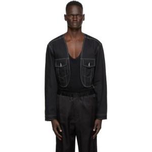Sasquatchfabrix. Black Denim Bolero Jacket