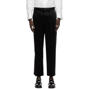 Sasquatchfabrix. Black Velvet Carding Trousers