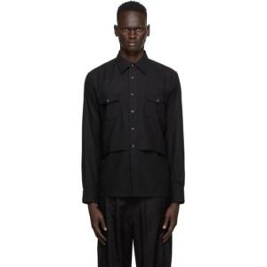 Sasquatchfabrix. Black Layered Western Shirt