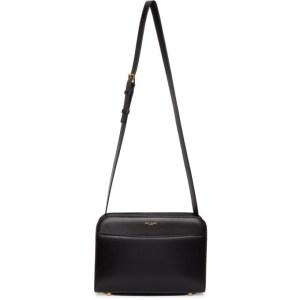Saint Laurent Black Reversed Satchel Bag