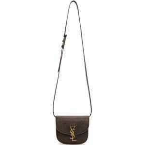 Saint Laurent Brown Mini Kaia Satchel Bag