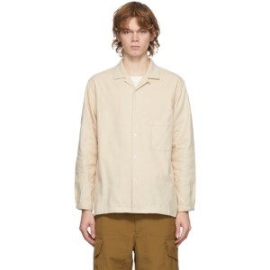 Snow Peak Beige Organic Cotton Suede Shirt