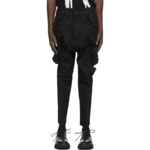 Julius Black Twill Cargo Pants