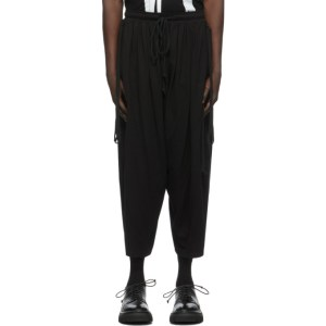 Julius Black Jersey Oval Trousers