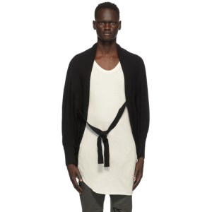 Julius Black Linen and Silk Cropped Cardigan