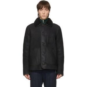 PS by Paul Smith Reversible Black Sheepskin Jacket