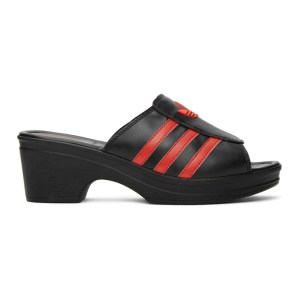 adidas LOTTA VOLKOVA Black Trefoil Heeled Sandals