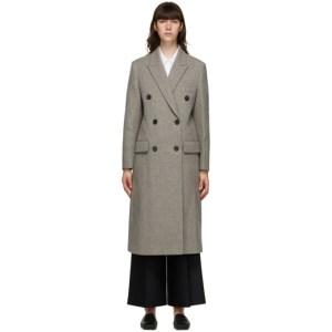 LVIR Grey Wool Double-Breasted Coat
