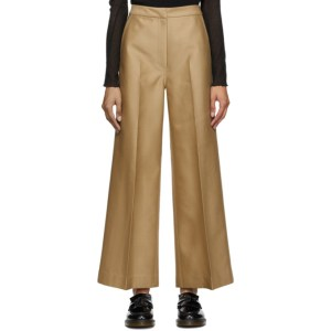 LVIR Tan Wide Line Trousers
