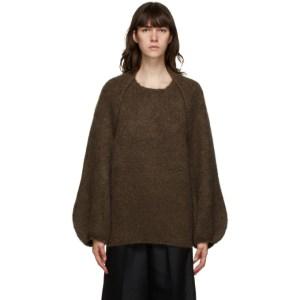 LVIR Brown Mohair Bolero Sweater