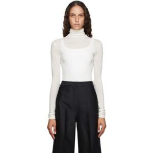 LVIR Off-White Tencel Wool Turtleneck