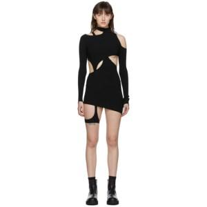 Hyein Seo Black Knit Two-Piece Dress