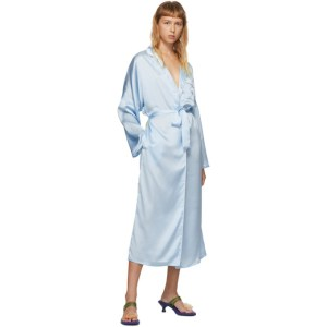 Im Sorry by Petra Collins SSENSE Exclusive Blue Graphic Morning Gown