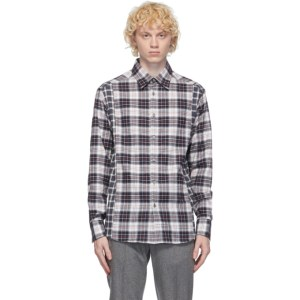 Dunhill Black and White Check Combo Shirt