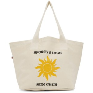 Sporty and Rich Beige Sun Club Tote