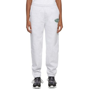Sporty and Rich Grey Land Rover Edition Logo Patch Lounge Pants