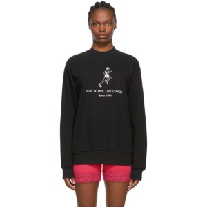 Sporty and Rich Black Live Longer Sweatshirt