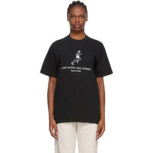 Sporty and Rich Black Live Longer T-Shirt