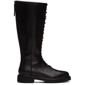 Legres Black Tall Combat Boots