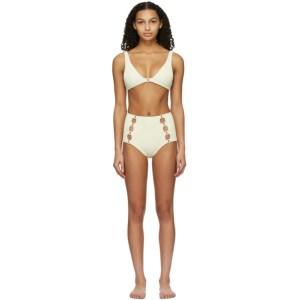 Medina Swimwear Off-White High-Waisted Medusa Bikini