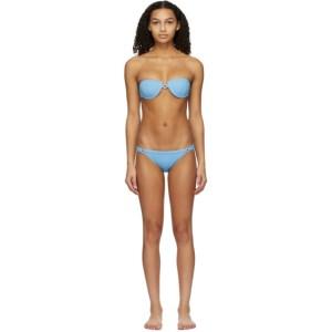 Medina Swimwear Blue Bandeau Medusa Bikini