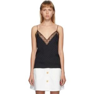 Gucci Black Silk GG Lingerie Camisole