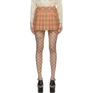 Gucci Pink Wool Damier Optical Miniskirt