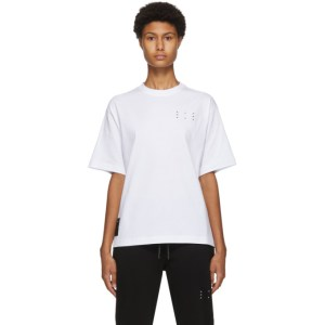 MCQ White Jack Branded Relaxed T-Shirt