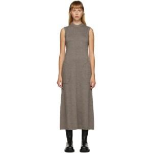 Peter Do SSENSE Exclusive Brown Knit Sleeveless Dress