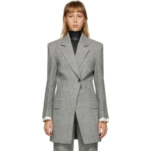 Peter Do SSENSE Exclusive Grey Fitted Blazer