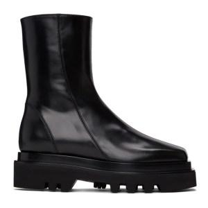 Peter Do Black Combat Boots