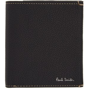 Paul Smith 50th Anniversary Black and Green Apple Trifold Wallet