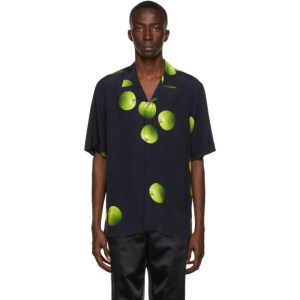 Paul Smith 50th Anniversary Black and Green Apple Short Sleeve Shirt