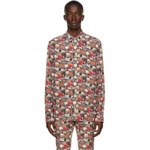 Paul Smith 50th Anniversary Multicolor Floral Tailored Shirt