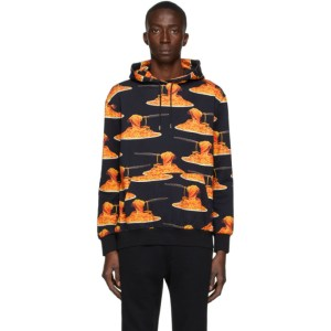 Paul Smith 50th Anniversary Black All Over Spaghetti Hoodie