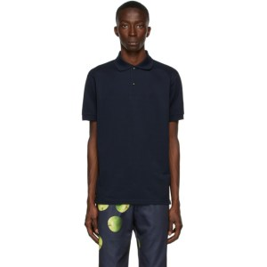 Paul Smith 50th Anniversary Navy Apple Charm Button Polo