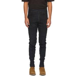 FREI-MUT Navy Leather Avant Trousers