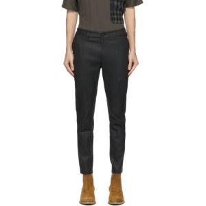 FREI-MUT Black Leather Emilio Trousers