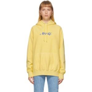 Awake NY Yellow Embroidered Logo Hoodie