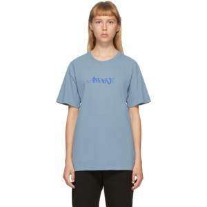 Awake NY Blue Logo T-Shirt