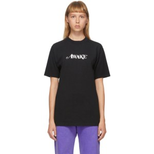 Awake NY SSENSE Exclusive Black Logo T-Shirt