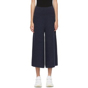 Stella McCartney Navy Wool Deconstructed Trousers