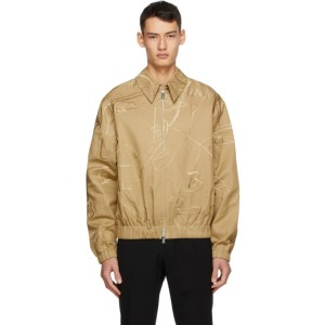 Sean Suen Khaki Embroidered Jacket