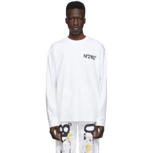 The DSA White NO2162 Long Sleeve T-Shirt