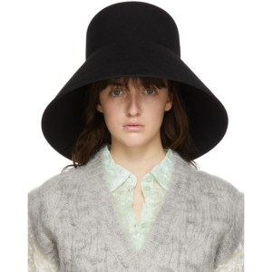 Nina Ricci Black Fur Structured Hat