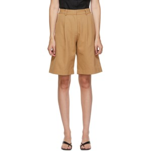 Esse Studios SSENSE Exclusive Tan Tailored Shorts