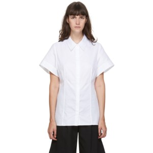 Esse Studios SSENSE Exclusive White Cotton Short Sleeve Shirt