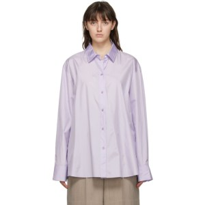 Nina Ricci Purple Silk Oversized Shirt
